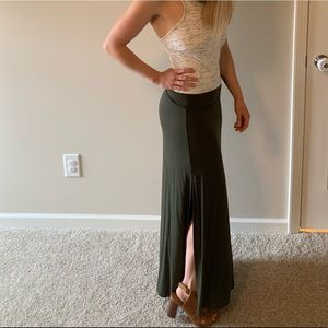 Maxi skirts with side slits